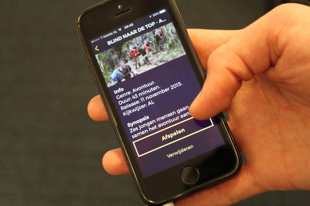 Watson app op smartphone