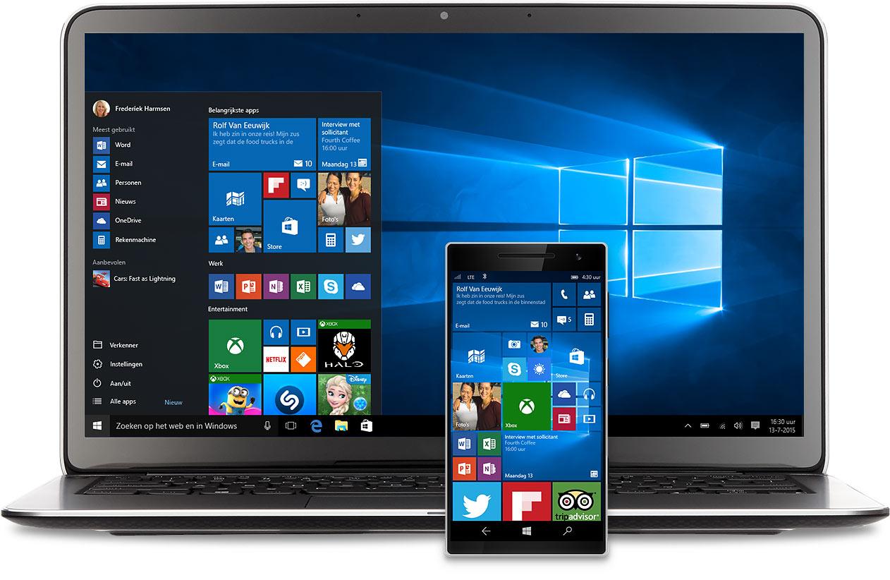 Laptop met Windows 10