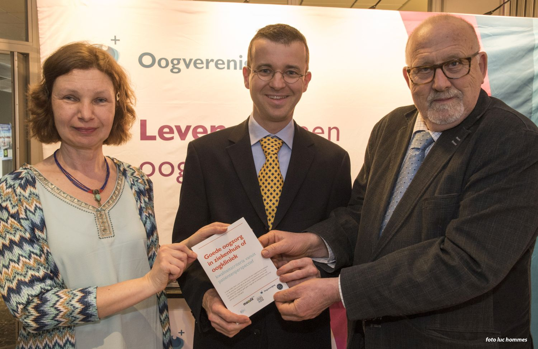 Uitreiking Kwaliteitscriteria goede oogzorg, onderdeel van het samenwerkingsproject Voucherproject Oog 2013-2015