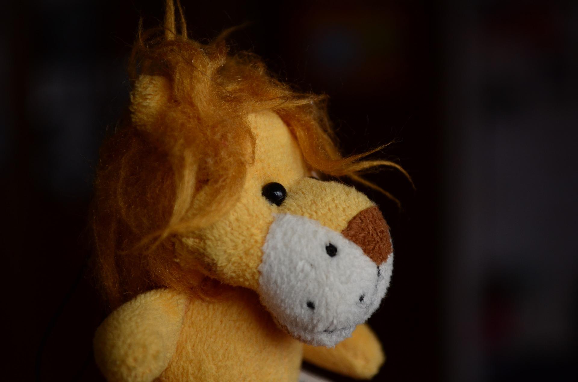 Pluchen leeuw