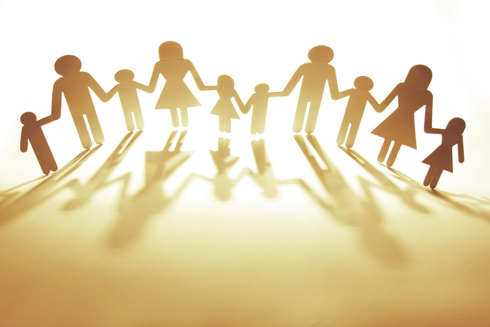 Ouders en kinderen, hand in hand