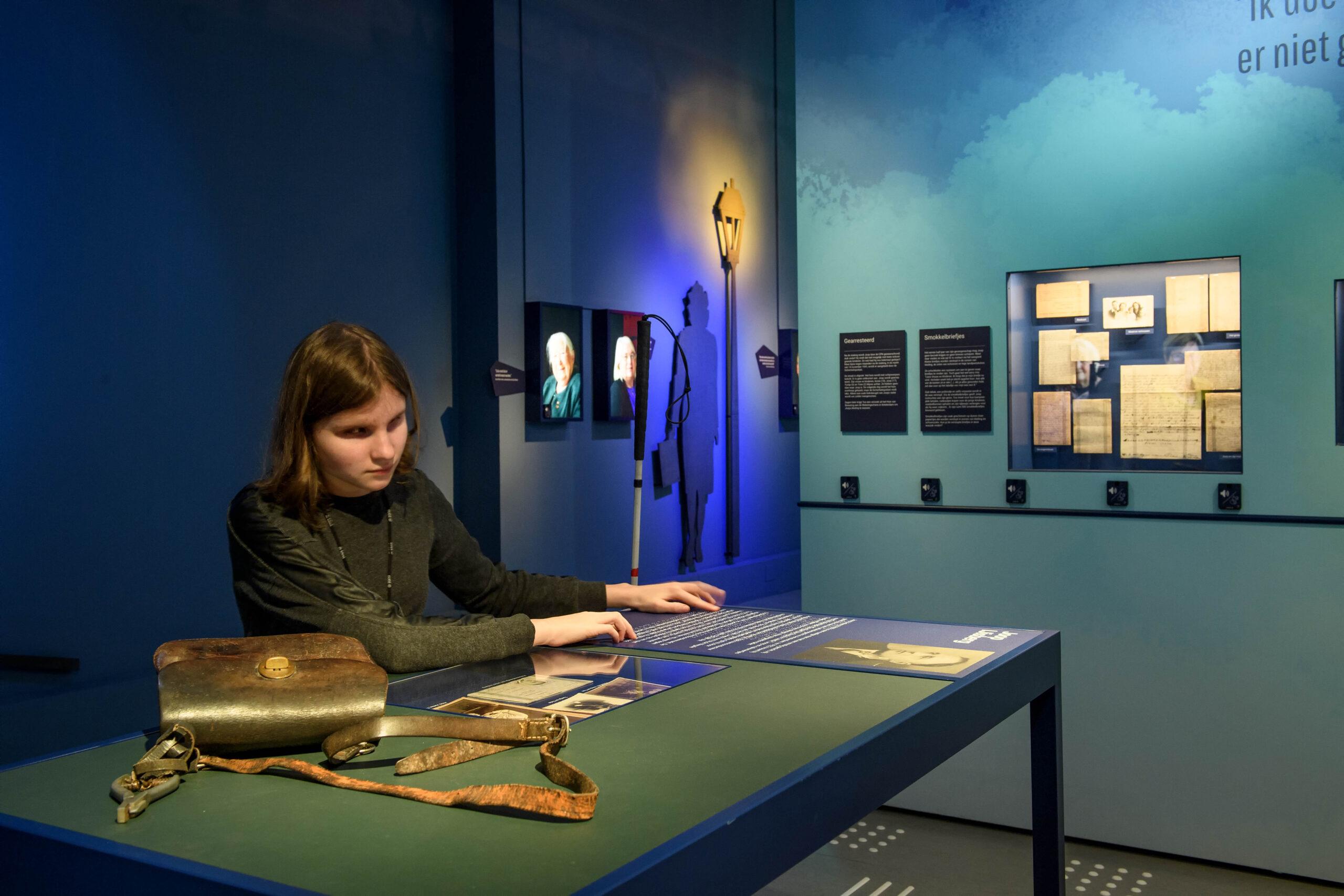 Ook het Verzetsmuseum in Amsterdam is bezig met het ontwikkelen van een opstelling waar al je zintuigen aan bod komen